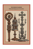 The Church Filigreed Goldsmith Reliquaries and Crucifixes Posters by Friedrich Hottenroth