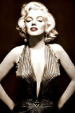 Marilyn Monroe- Poised in Sepia Kunstdruck