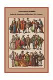 Personages in Paris Ladies and Gentlemen of the Late XVI Century Prints by Friedrich Hottenroth