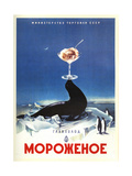 Serving Seal Ice Cream from the Dairy Ministry Posters