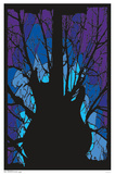 Woods Guitar Blacklight Poster Kunstdruck