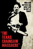 Texas Chainsaw Massacre- Leatherface Silhouette Plakater