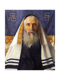 Rabbi with Prayer Shawl Kunst af Isidor Kaufmann
