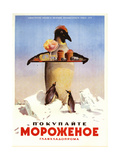 Serving Penguin Ice Cream from the Dairy Ministry Posters