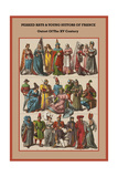 Peaked Hats and Young Suitors of France - Outset of the XV Century Posters by Friedrich Hottenroth