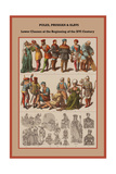 Poles, Prussian and Slavs Lower Classes at the Beginning of the XVI Century Prints by Friedrich Hottenroth