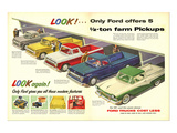 1957 Ford Offers 5½Ton Pickups Affiches