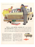1958 GM Chevy- Being Looked At Affiches