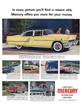 1955 Mercury-Exclusive Styling Póster