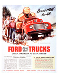 1948 Ford Truck-Built Stronger Poster