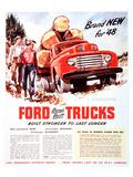 1948 Ford Truck-Built Stronger Kunstdrucke