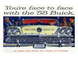 1958 GM Buick-Flight On Wheels Print
