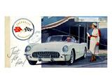 1953 GM Corvette Just for Fun Affiche
