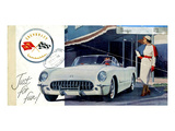 1953 GM Corvette Just for Fun Poster