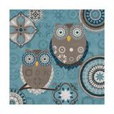 Moroccan Kasbah Blue Owl I Posters por Veronique Charron