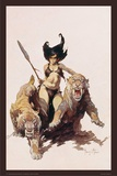 The Huntress Posters by Frank Frazetta