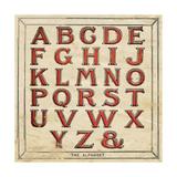 Alfabet Planscher av Jo Moulton