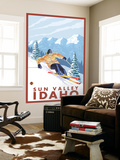 Downhhill Snow Skier, Sun Valley, Idaho Wall Mural by  Lantern Press