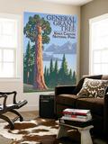 General Grant Tree - Kings Canyon National Park, California Seinämaalaus tekijänä  Lantern Press