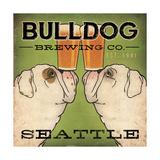 Bulldog Brewing Seattle Juliste tekijänä Ryan Fowler