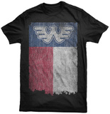 Waylon Jennings- Texas State Flag T-Shirts