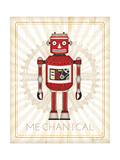 Retro Robot III Print by Jennifer Pugh