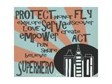 Superhero Affiche par Shanni Welsh