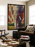 Elephant - Paper Mosaic Seinämaalaus tekijänä  Lantern Press