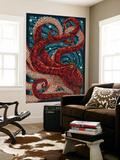 Octopus - Paper Mosaic Fototapete von  Lantern Press