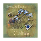 Jeu de golf Posters par Jim Baldwin