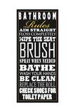 Regole della stanza da bagno, in inglese Arte di Jim Baldwin
