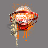 Basketball Print by Jim Baldwin