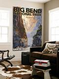 Big Bend National Park, Texas - Santa Elena Canyon Seinämaalaus tekijänä  Lantern Press