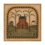 Live Simply Kunstdrucke von Kim Lewis