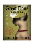 Great Dane Coffee Philadelphia Juliste tekijänä Ryan Fowler
