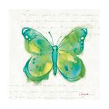 Birdsong Garden Butterfly II Art by Shirley Novak