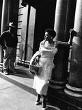 Billie Holiday Bedruckte aufgespannte Leinwand von Moneta Sleet Jr.