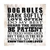 Dog Rules Kunstdrucke von Jim Baldwin