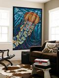 Jellyfish - Paper Mosaic Fototapete von  Lantern Press