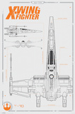Star Wars The Force Awakens- X Wing Plans Plakater