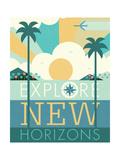 Vintage Travel Explore New Horizons 高品質プリント : マイケル・ミューラン
