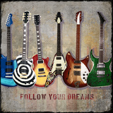 Guitar Line Up Pósters por Jim Baldwin