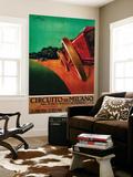 Circuit automobile de Milan, Italie : poster vintage Poster géant par  Lantern Press