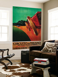 Circuito Di Milano Vintage Poster - Europe Wall Mural by  Lantern Press