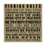 Fishing Rules Posters by Jim Baldwin