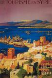 Syria - French Travel Poster, Touring in Syria Fototapete von  Lantern Press