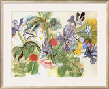 Poppies and Iris Pôsters por Raoul Dufy