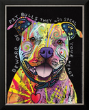 Beware of Pit Bulls Poster by Dean Russo