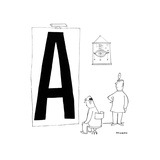 Cartoon Premium Giclee Print by Saul Steinberg
