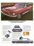 1968 Mustang Carroll Shelby Prints